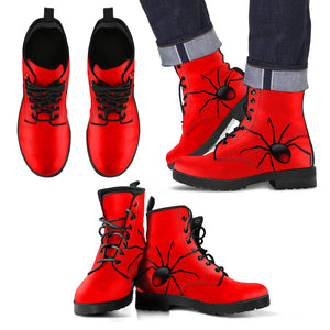 Blood Red Black Widow Men's Leather Boot