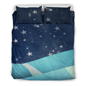 Dream Skies Blue Bedding Set, 3 Piece - Duvet Cover With Pillow Shams, and Corner Ties