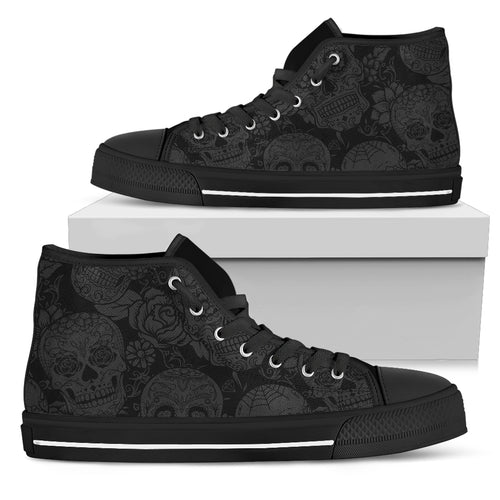 Dark Shadow Sugar Skull - High Top Shoe (Women's)