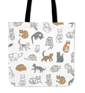 Cats Cloth Tote Bag