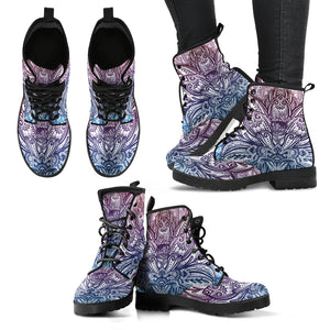 Spring Lotus Mandala Handcrafted Boot