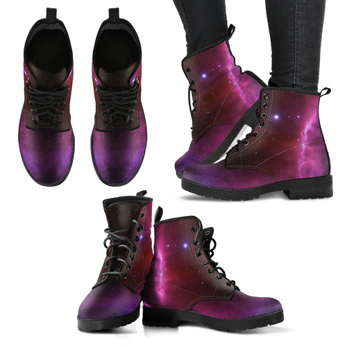 Space Red Women's Leather Boots