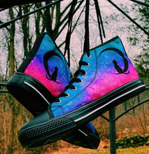 Load image into Gallery viewer, Custom Designed High Quality High Top Sneakers Pink Nebula