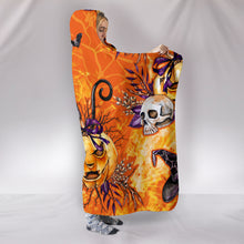 Load image into Gallery viewer, Sassy Black Cat Halloween - Hoodie Blanket