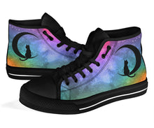 Load image into Gallery viewer, Custom Designed High Top Sneakers Prism Nebula