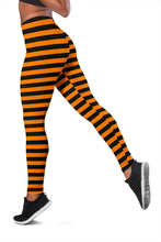Load image into Gallery viewer, Halloween Striped Leggins