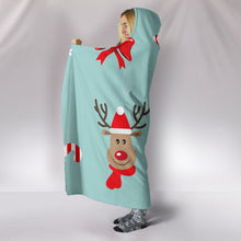 Load image into Gallery viewer, Christmas Deers Hooded Blanket