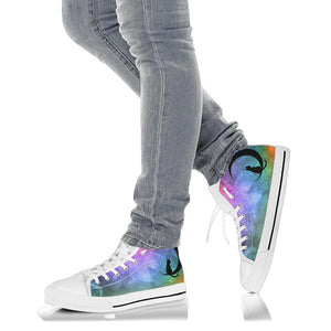 Custom Designed High Top Sneakers Prism Nebula