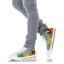 Load image into Gallery viewer, Custom Designed High Top Sneakers Green Nebula