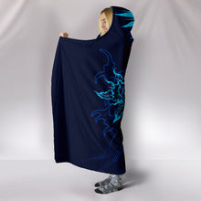 Load image into Gallery viewer, Electric Blue Skull - Hoodie Blanket