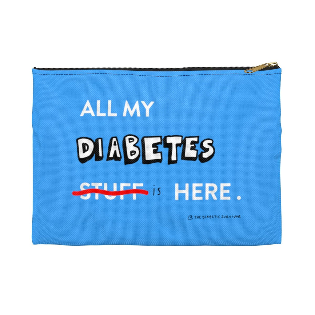 All my diabetes stuff bag