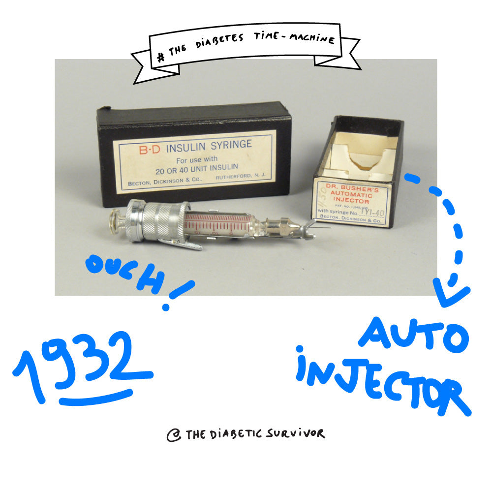 Insulin syringe - Dr Busher automatic injector - The Diabetes Time-machine