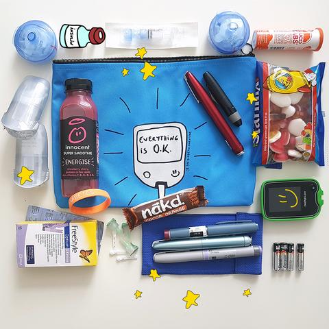 All my diabetes stuff bag 2