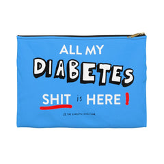All my diabetes shit diabetes bag