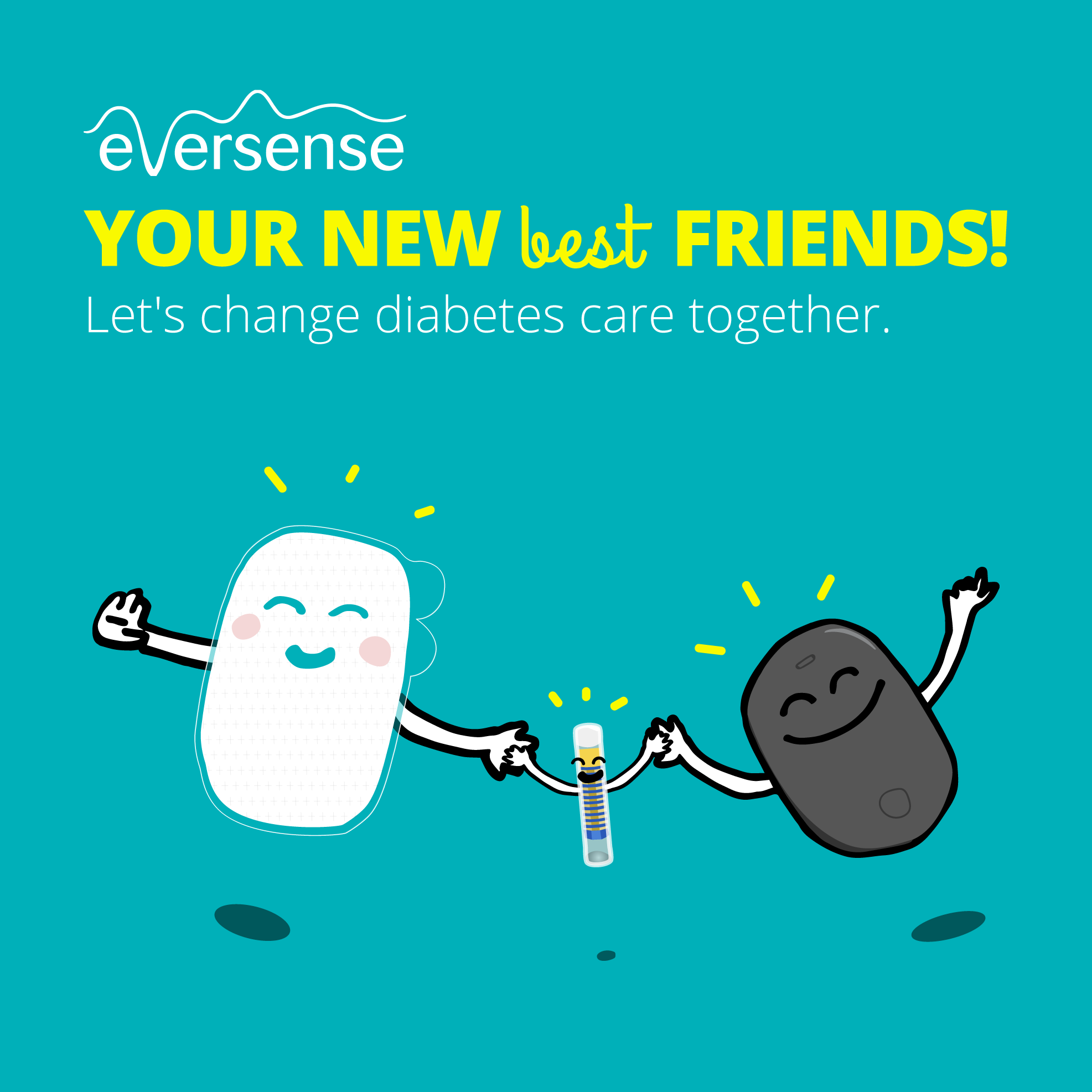 Eversense CGM Friendshipday Diabetes type 1