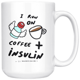 I run on coffee + insulin ☕☕