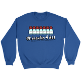 blue sweater insulin4all campaign