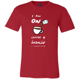 Men's T-Shirt - I run on coffee and insulin