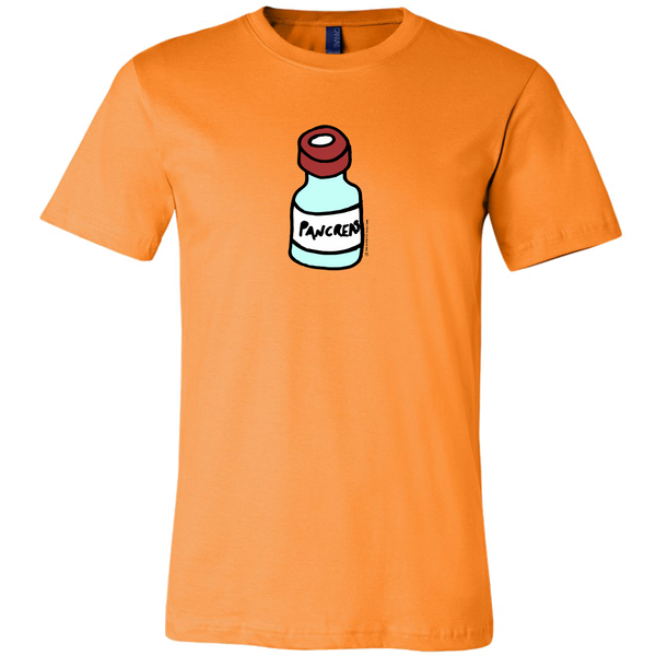 Men's Tee Shirt - Diabetes Pancreas as Vial