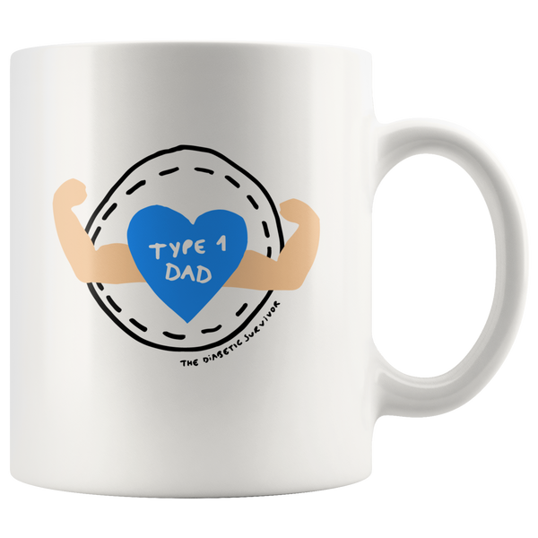 Type 1 DAD - 11oz Mug by The Diabetic Survivor