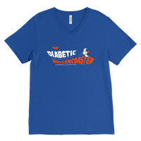 Men's V-Neck T-Shirt - The Diabetic Roller-Coaster