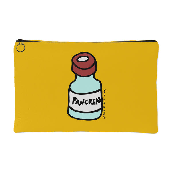 Diabetes Pancreas as Vial Carry-All Pouch