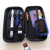Hard shell diabetes carry all travel case