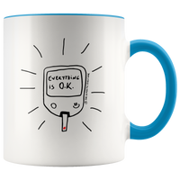 Diabetic mug light blue