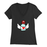 Women's V-Neck T-Shirt - Flying Vial