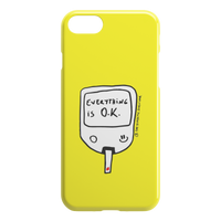 iPhone Case Everything is O.K. (Yellow)