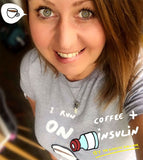 I run on coffee and insulin t-shirt