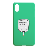 iPhone Case Everything is O.K. (Green)