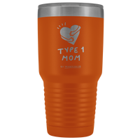 Type 1 Mom - 30 oz Tumbler Red