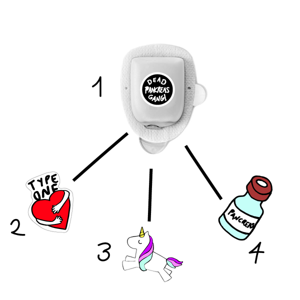 Omnipod Diabetes Stickers