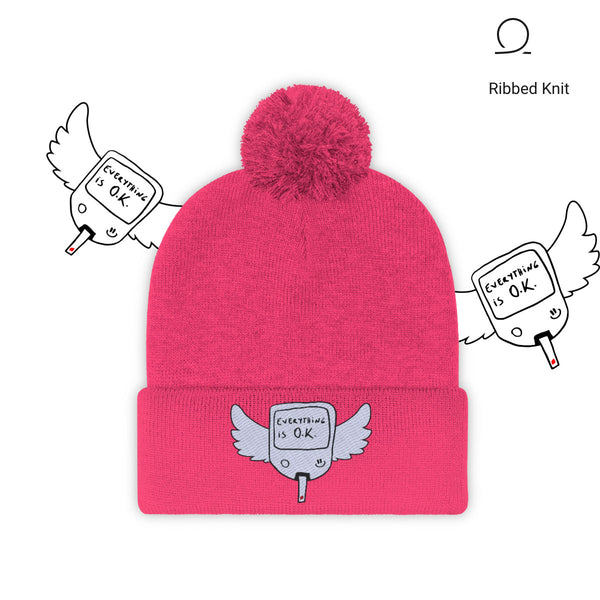 The Diabetic Survivor pink beanie