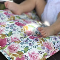 Watercolour Floral Delight Pram Liner