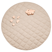Jersey Quilted Play Mat (Waterproof Backing) - Wheat