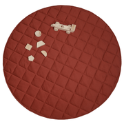 Jersey Quilted Play Mat (Waterproof Backing) - Rust