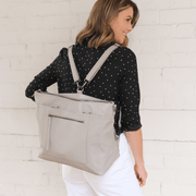 NEW! Billie Convertible Backpack / Tote Baby Bag - Barcelona Grey