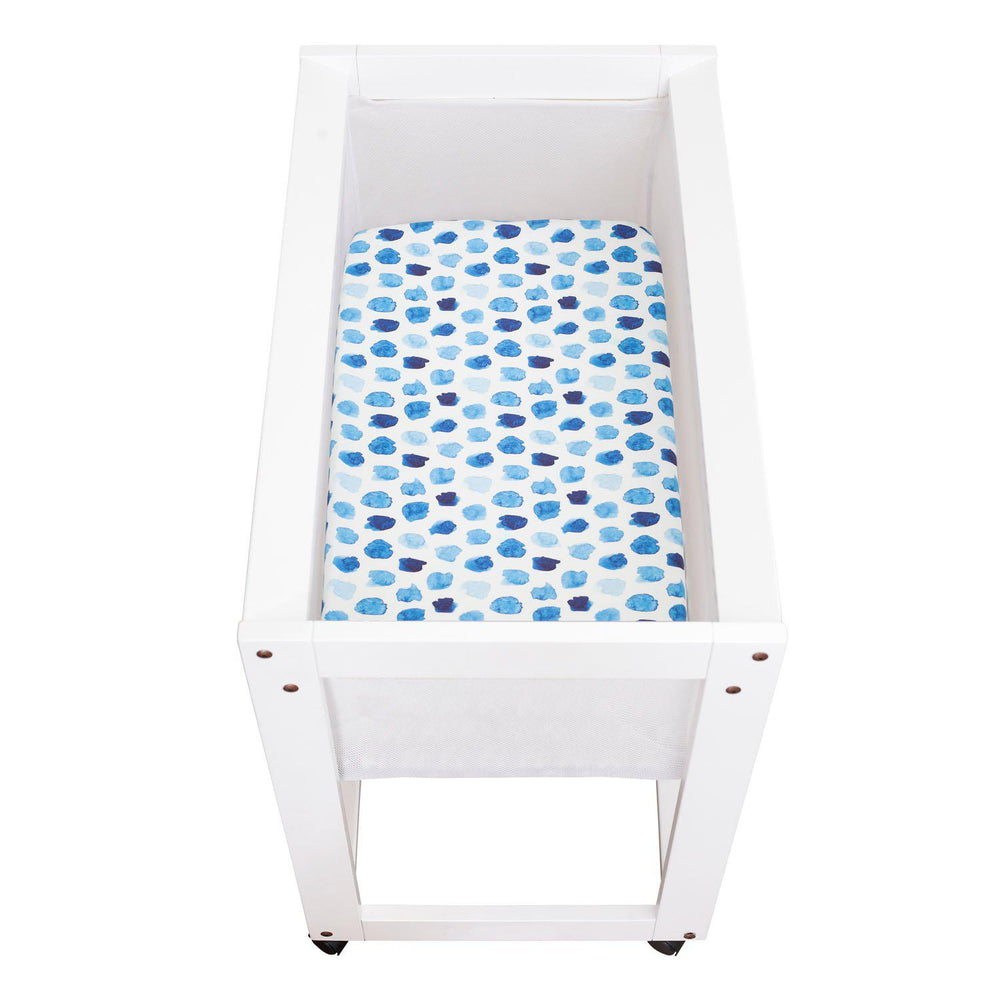 'Art Collection' Universal Change Table / Bassinet Cover - Indigo Rain - Outlook Baby