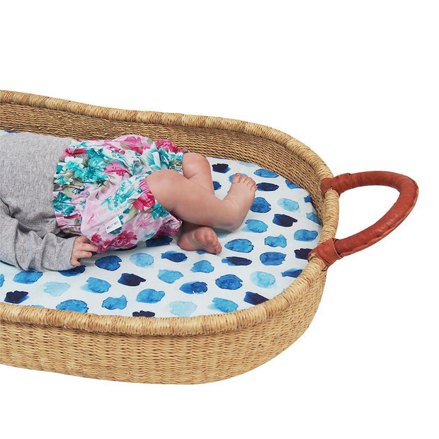 Universal Change Table / Bassinet Cover - Indigo Rain - Outlook Baby