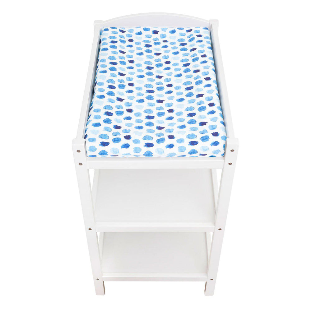 Watercolour Collection Universal Change Table / Bassinet Cover - Indigo Rain - Outlook Baby