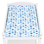 Artist Edition Watercolour Collection Universal Change Table / Bassinet Cover - Indigo Rain