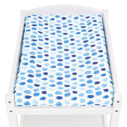 Artist Edition Watercolour Collection Universal Change Table / Bassinet Cover - Indigo Rain - Outlook Baby