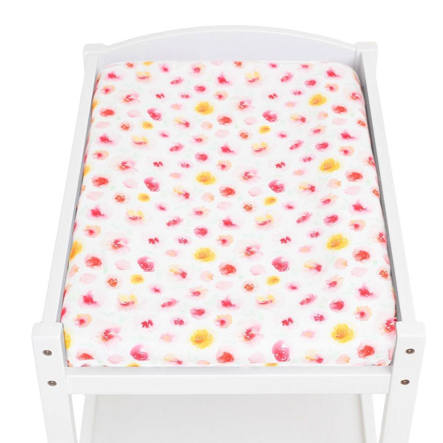 Artist Edition Watercolour Collection Universal Change Table / Bassinet Cover - Summer Blooms - Outlook Baby