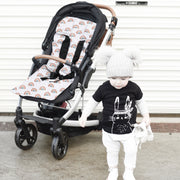 4 Piece Pram Accessories Set -Rainbows