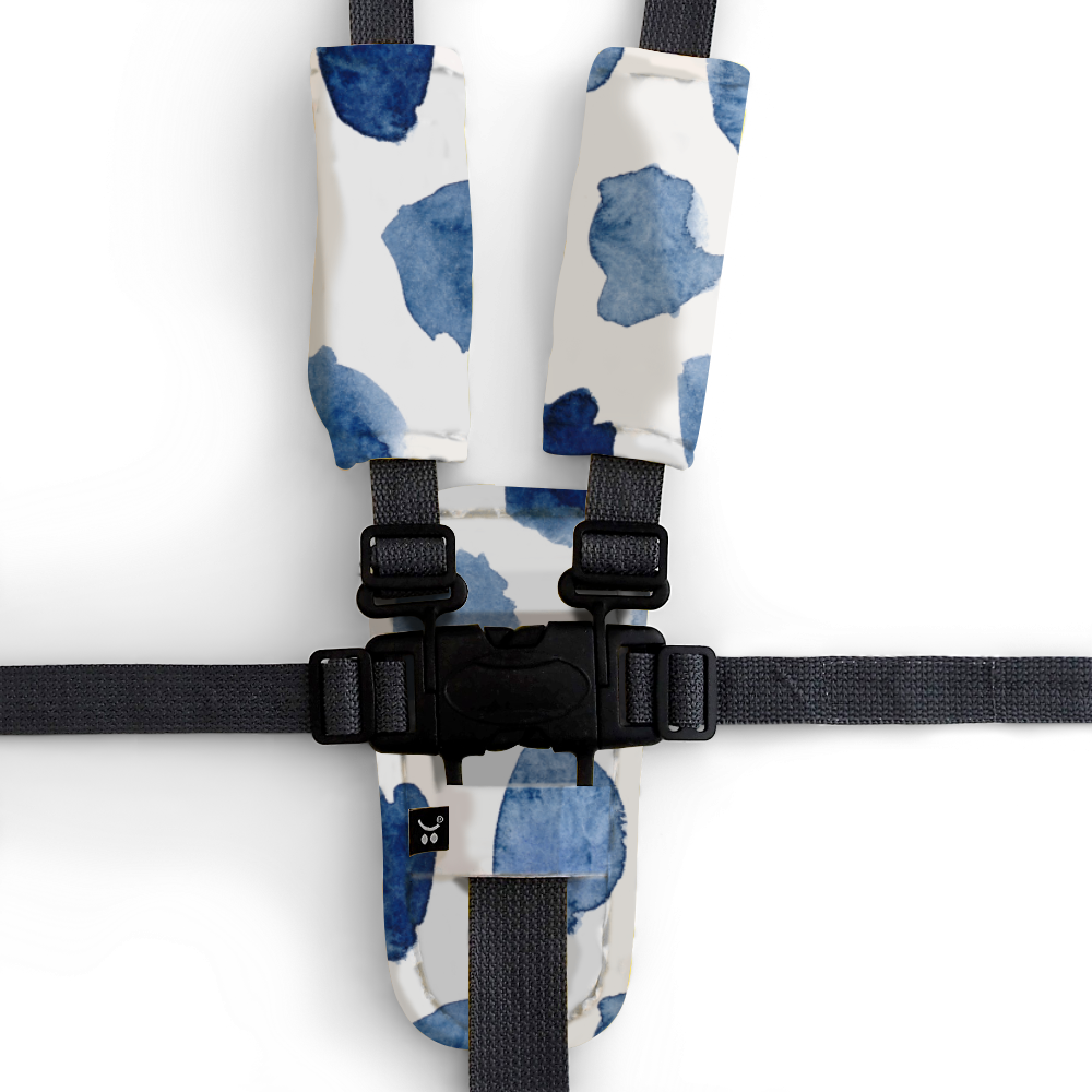 Watercolour Collection Harness Cover Set - Indigo Rain