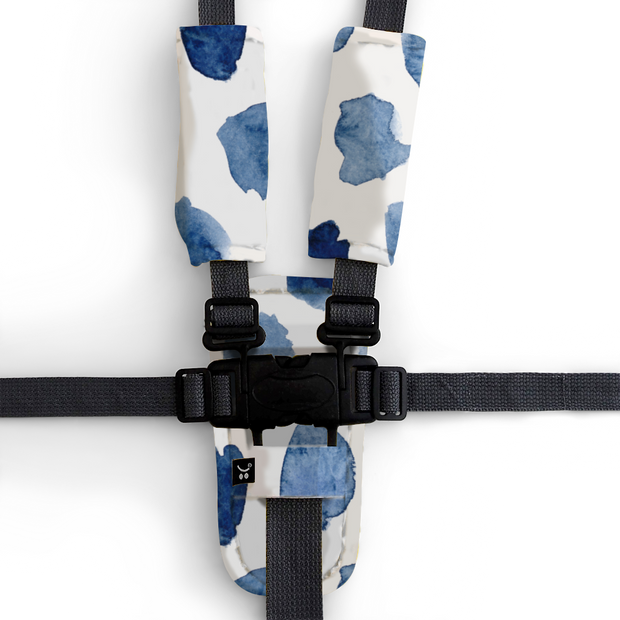 Artist Edition Watercolour Collection Harness Cover Set - Indigo Rain-Harness Cover Set-Outlook Baby