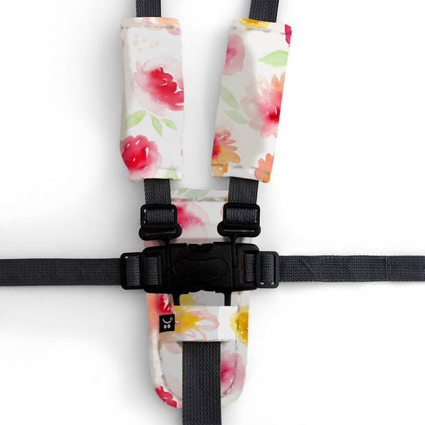 Artist Edition Watercolour Collection Harness Cover Set - Summer Blooms-Harness Cover Set-Outlook Baby