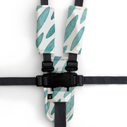 3 Piece Harness Cover Set -  Teal Drops - Outlook Baby